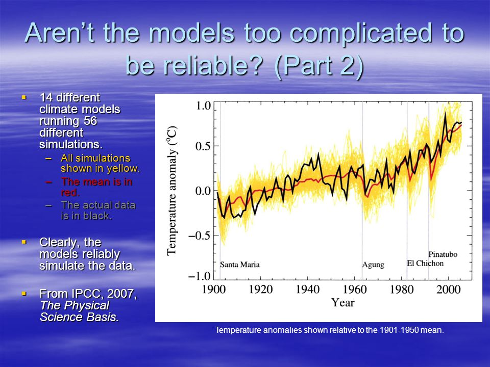 Arent the models too complicated to be reliable.