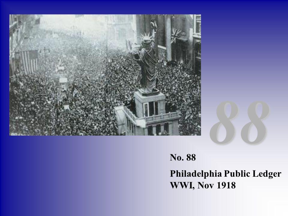 No. 88 Philadelphia Public Ledger WWI, Nov 1918 88