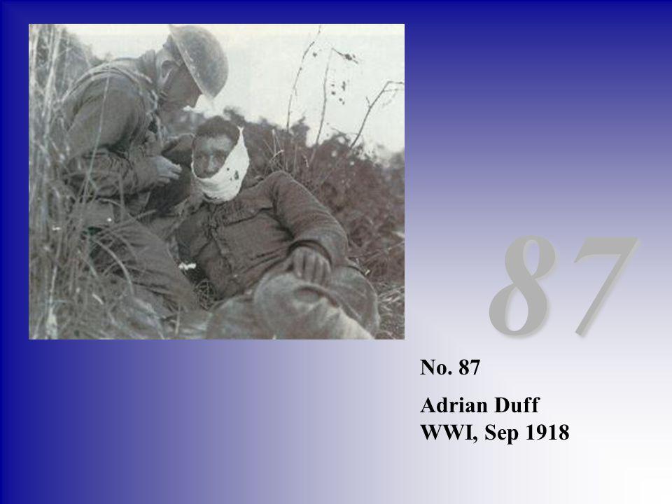 No. 87 Adrian Duff WWI, Sep 1918 87