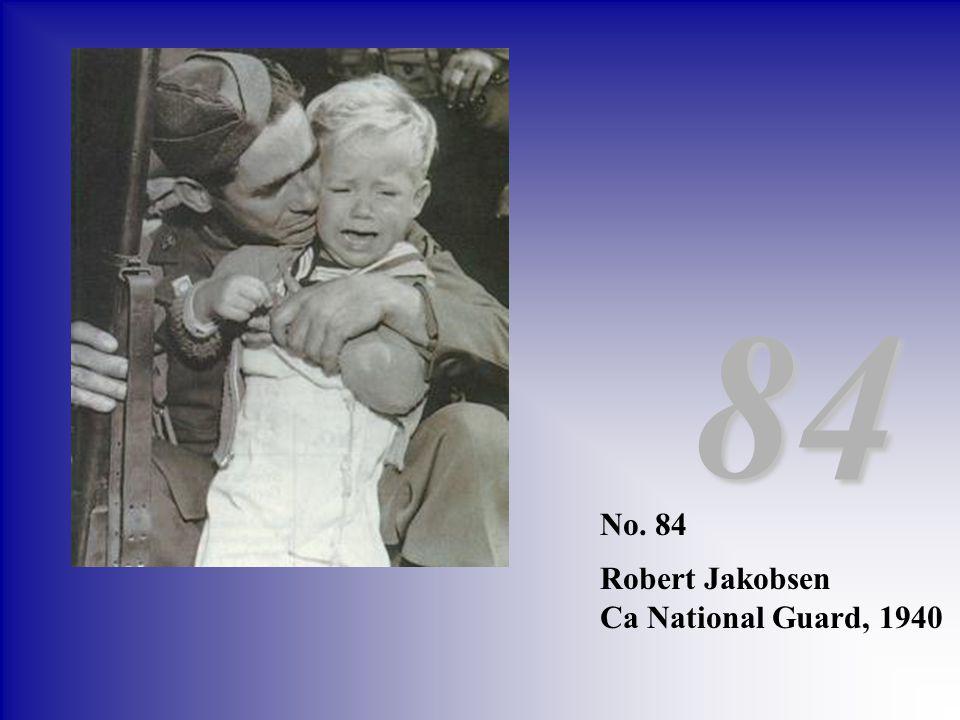No. 84 Robert Jakobsen Ca National Guard, 1940 84
