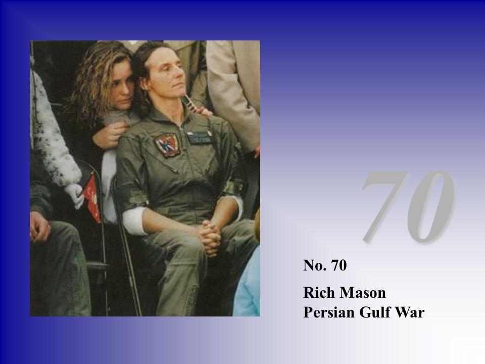 No. 70 Rich Mason Persian Gulf War 70