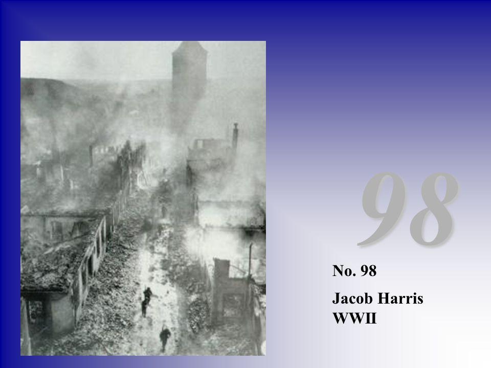 No. 98 Jacob Harris WWII 98