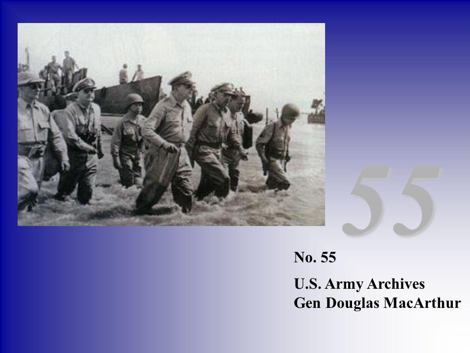 No. 55 U.S. Army Archives Gen Douglas MacArthur 55