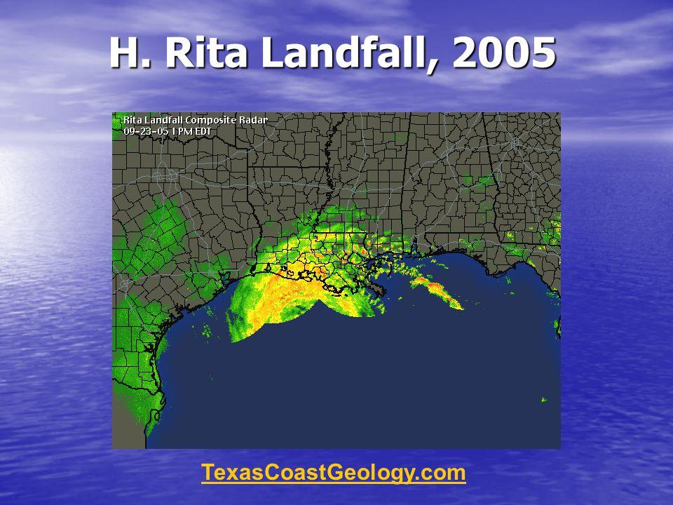 H. Rita Landfall, 2005 TexasCoastGeology.com