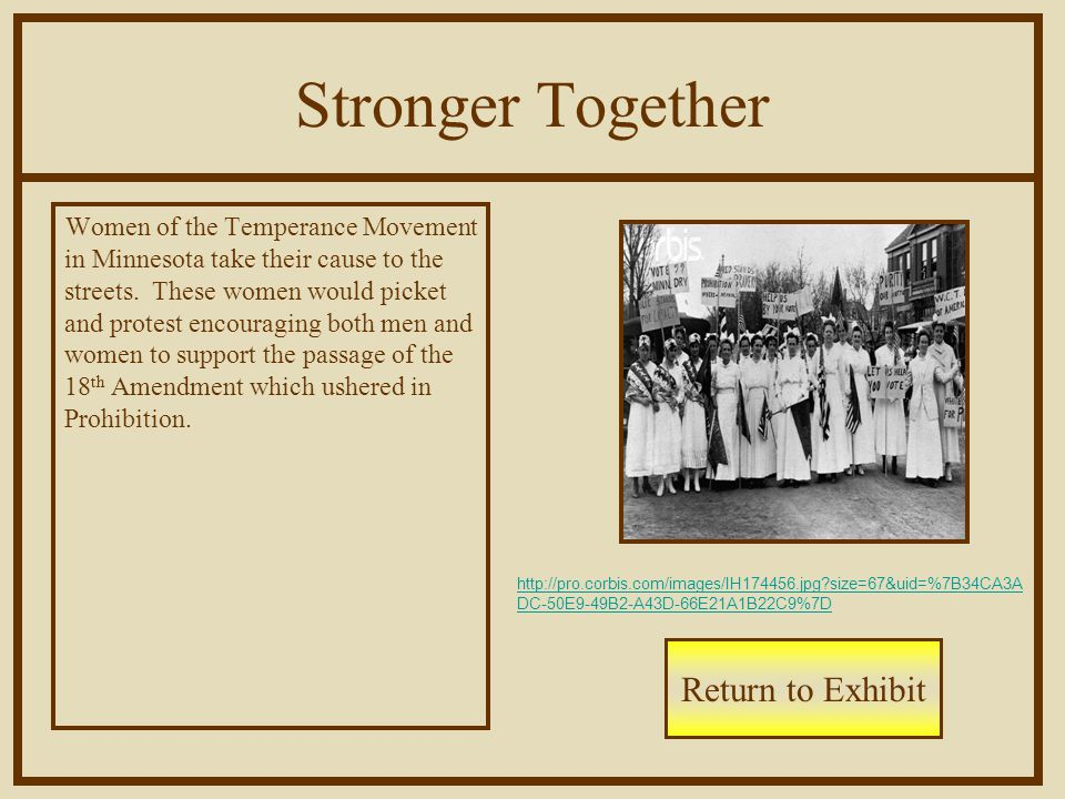 Stronger Together Women of the Temperance Movement in Minnesota take their cause to the streets.