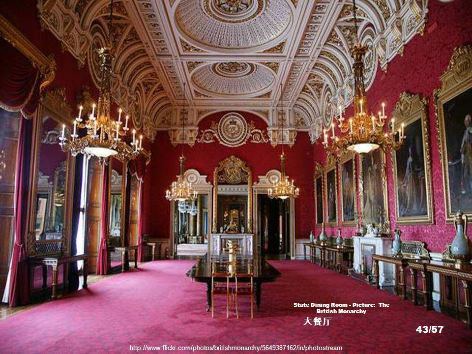 State Banquet room - Picture: AFP/Getty http://www.telegraph.co.uk/news/picturegalleries/royalty/2459973/Buckingham-Palace-state-banquet.html 42/57
