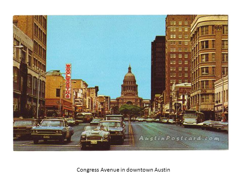 Congress Avenue in downtown Austin
