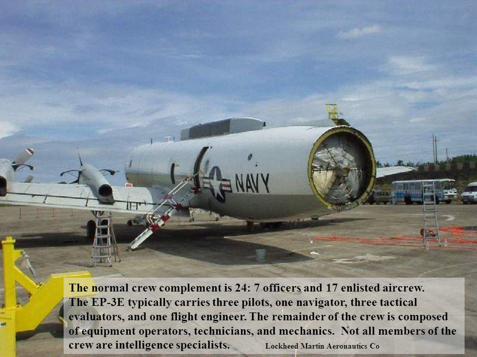 The EP-3E ARIES II aircraft is a four-engine, low-wing, electronic warfare and reconnaissance aircraft utilizing state-of-the-art electronic surveilla