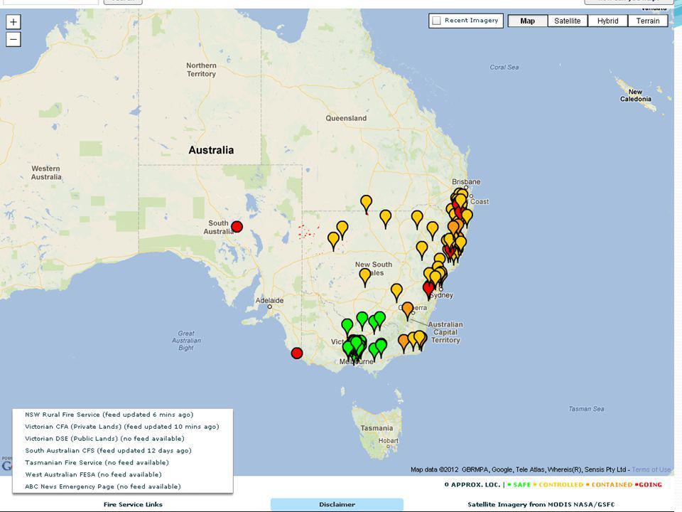 Google Victorian Fire Map