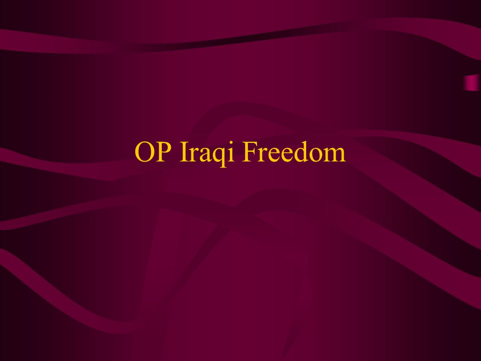 OP Iraqi Freedom