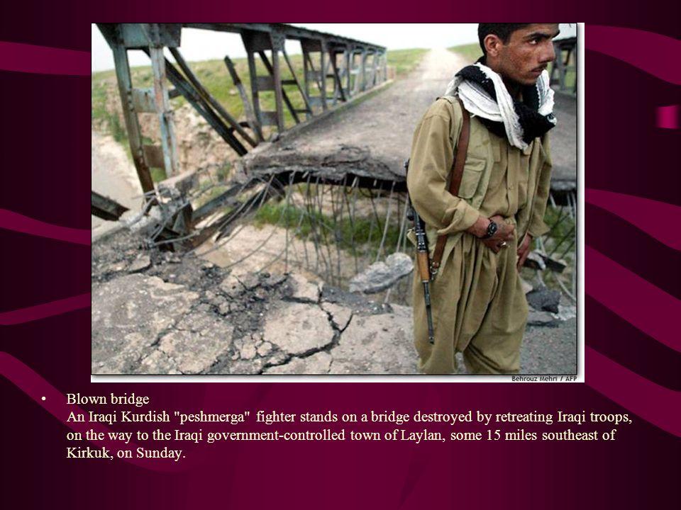Blown bridge An Iraqi Kurdish
