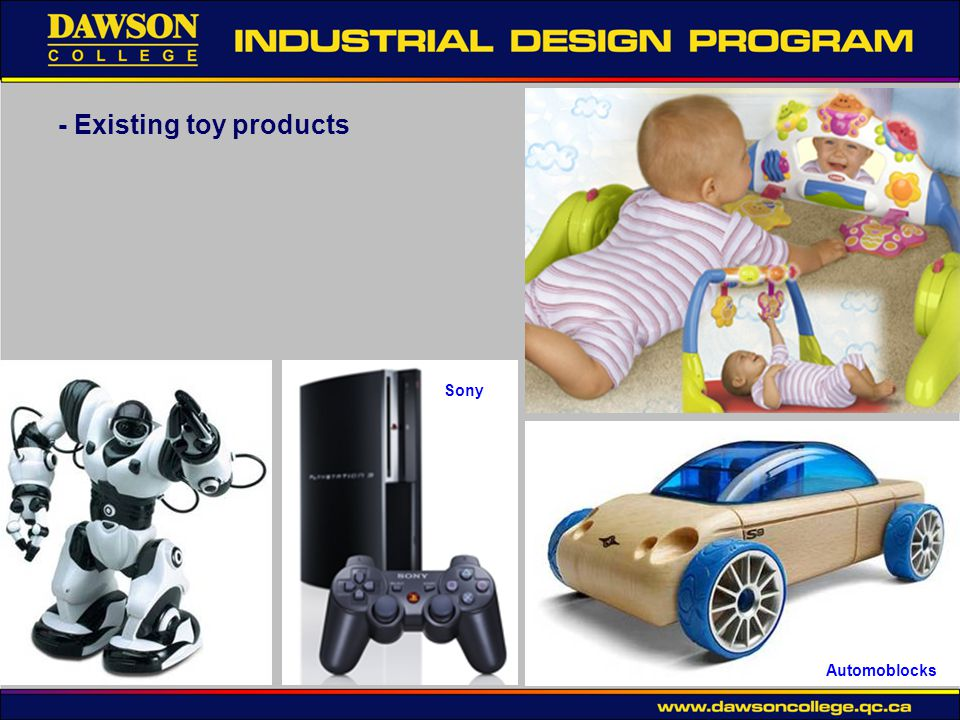 - Existing toy products Sony Automoblocks