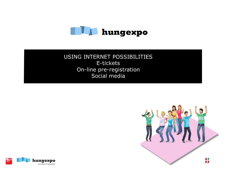 USING INTERNET POSSIBILITIES E-tickets On-line pre-registration Social media