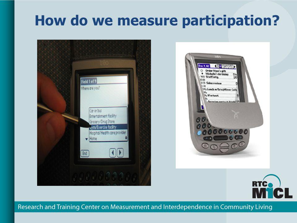 How do we measure participation?