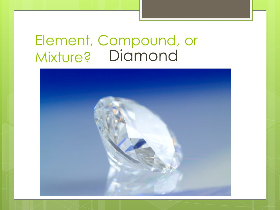 Element, Compound, or Mixture? Diamond