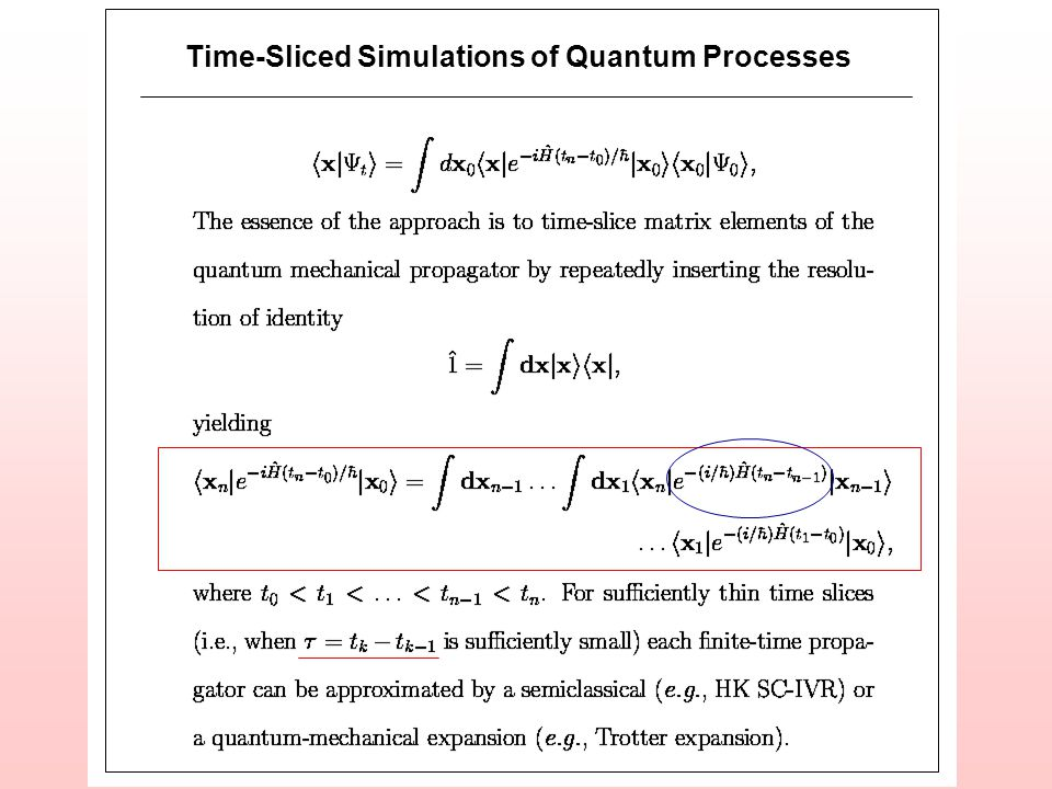 Time-Sliced Simulations of Quantum Processes