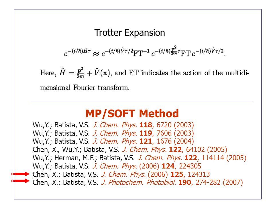 Wu,Y.; Batista, V.S. J. Chem. Phys. 118, 6720 (2003) Wu,Y.; Batista, V.S.