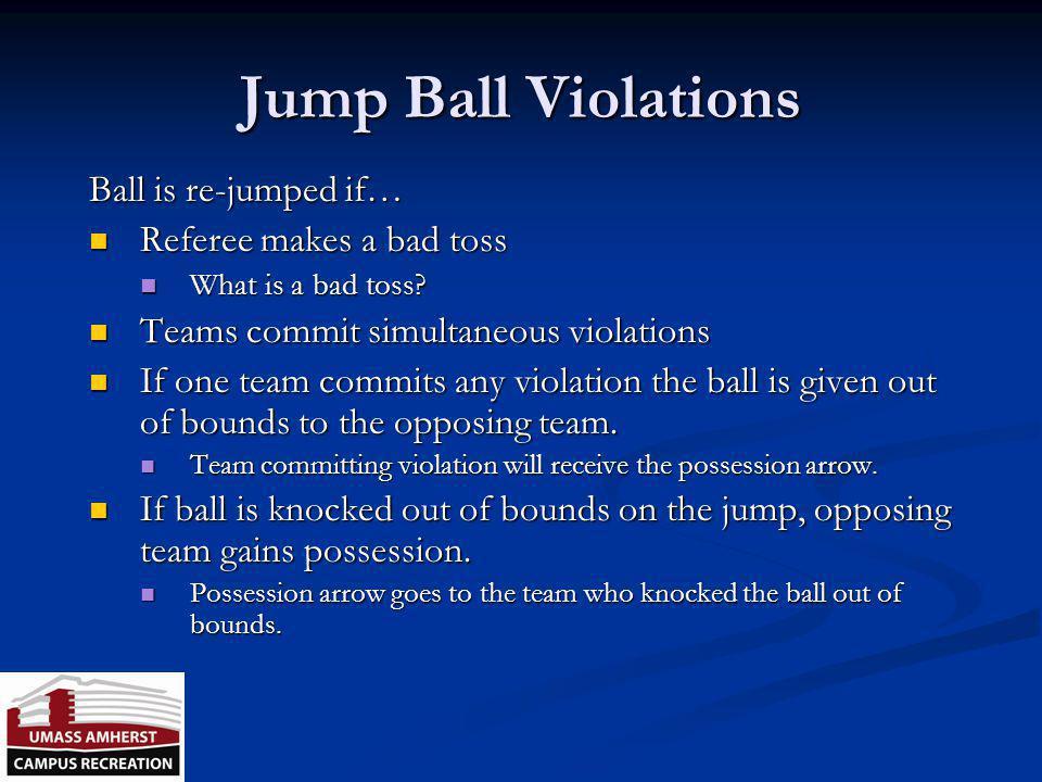 Jump Ball Clock starts when? Clock starts when? How many taps? How many taps? When is there a jump ball? When is there a jump ball? When can the toss