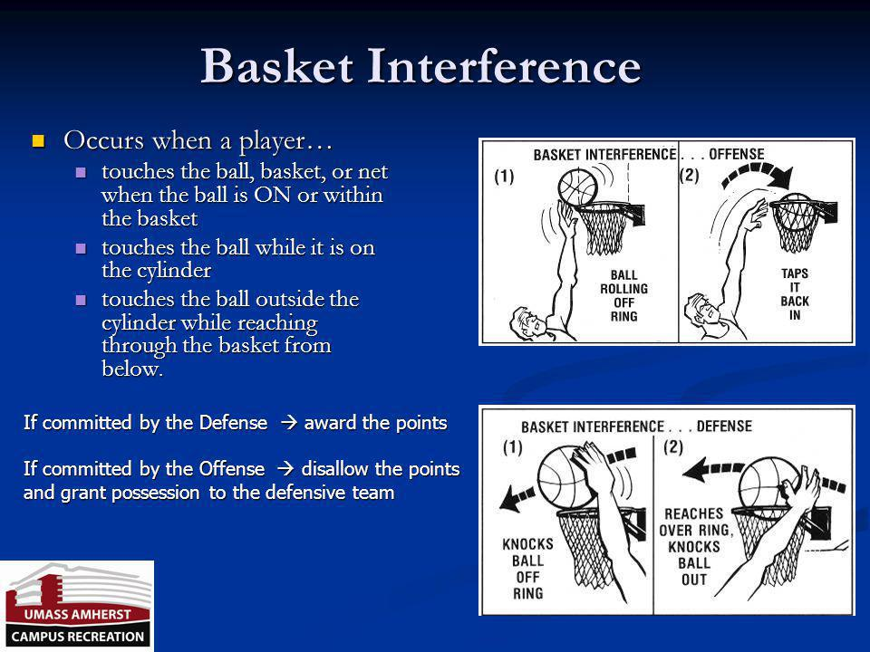 Goaltending Goaltending – occurs when a player touches the ball during a field goal try or tap while: Goaltending – occurs when a player touches the b