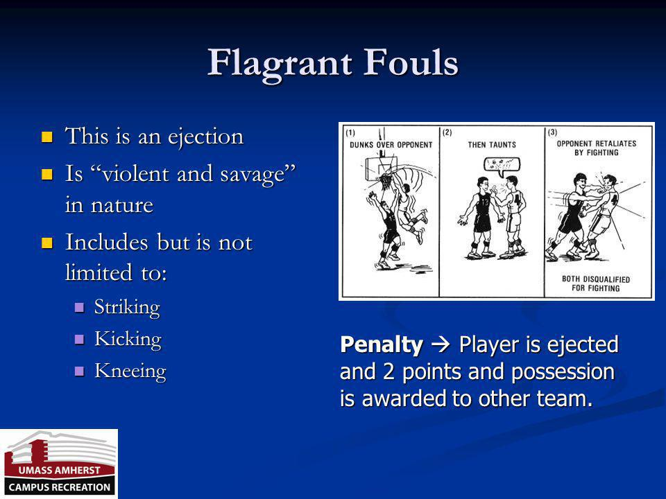 Fouls Intentional Fouls - contact away from the ball or when not playing the ball; excessive contact; a foul designed to keep the clock from starting