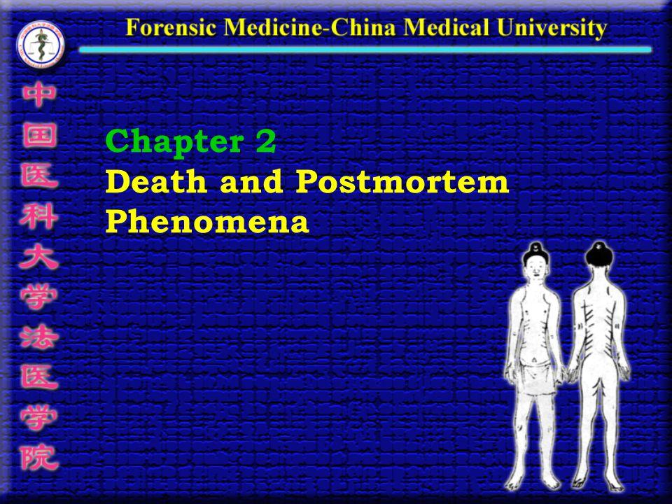 Chapter 2 Death and Postmortem Phenomena