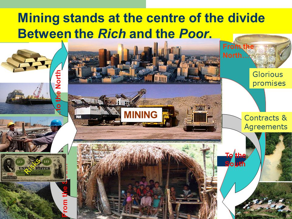 MINING Mining stands at the centre of the divide Between the Rich and the Poor.