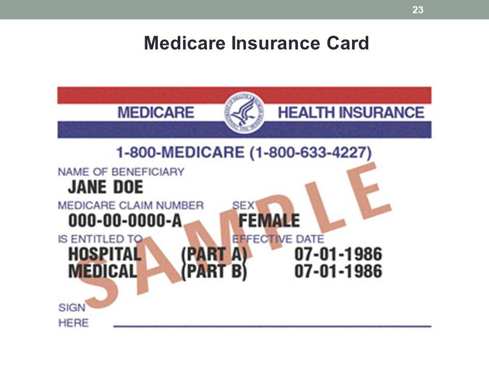 Medicare Insurance Card 23