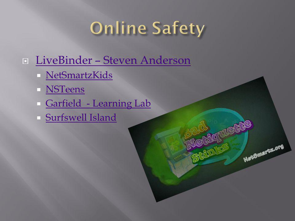 LiveBinder – Steven Anderson NetSmartzKids NSTeens Garfield - Learning Lab Surfswell Island