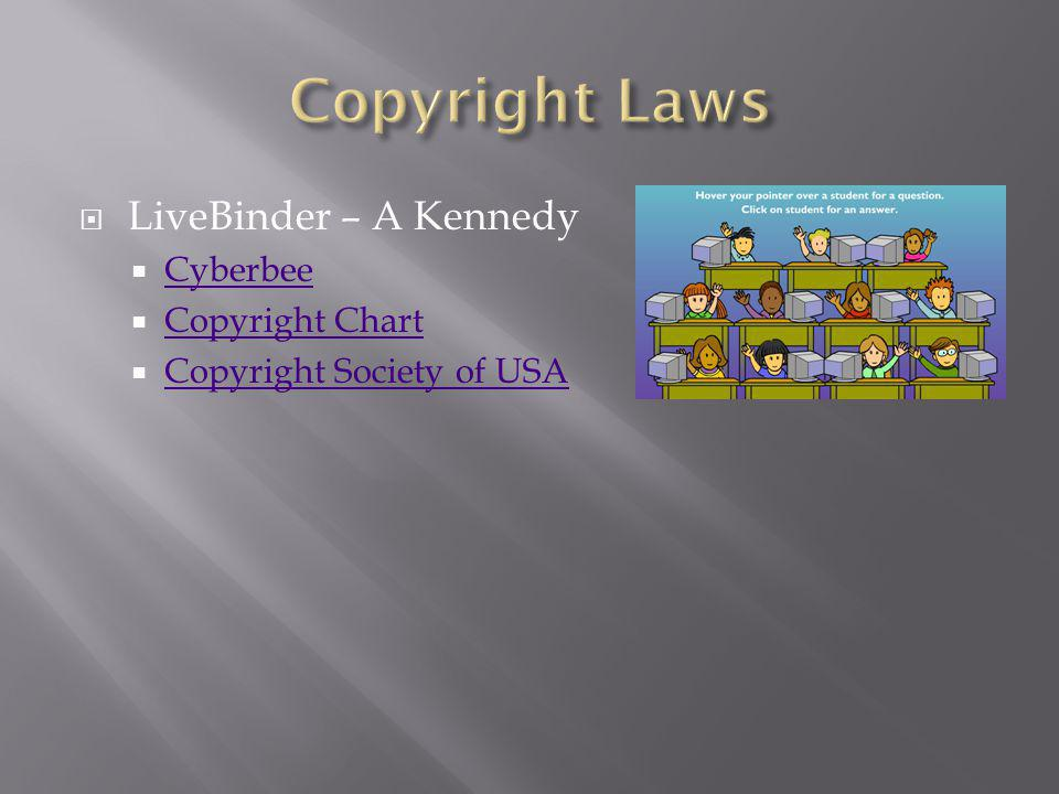 LiveBinder – A Kennedy Cyberbee Copyright Chart Copyright Society of USA