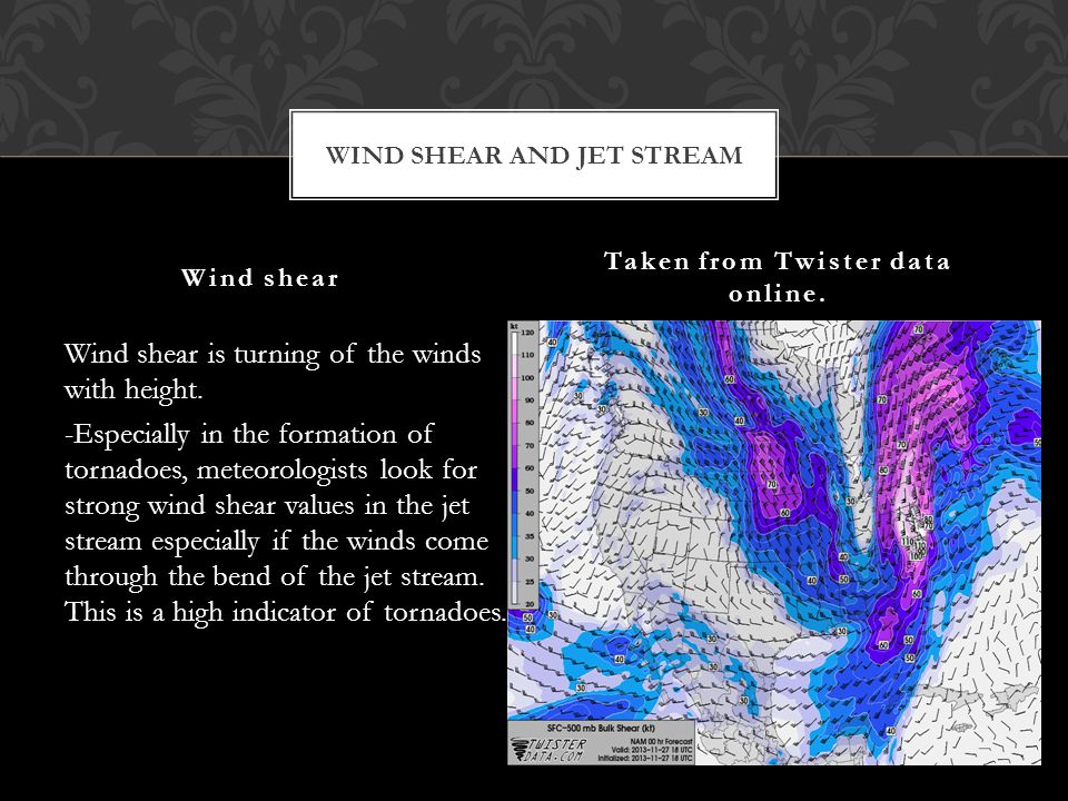 Wind shear is turning of the winds with height.
