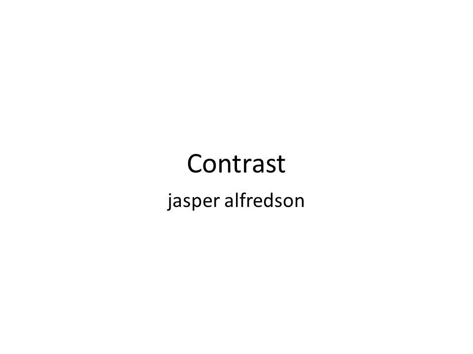 Contrast jasper alfredson