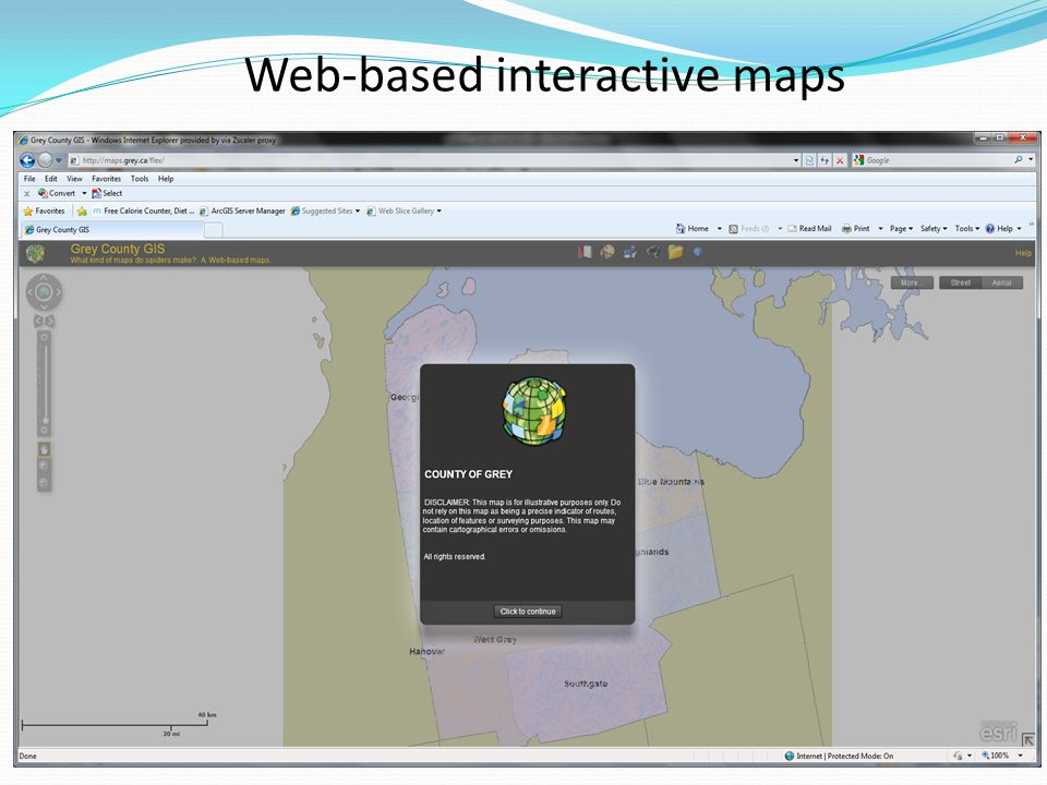 Web-based interactive maps
