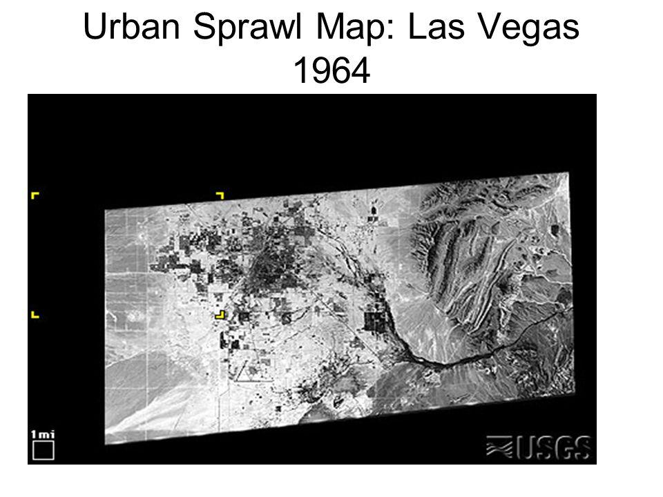 Urban Sprawl Map: Las Vegas 1964