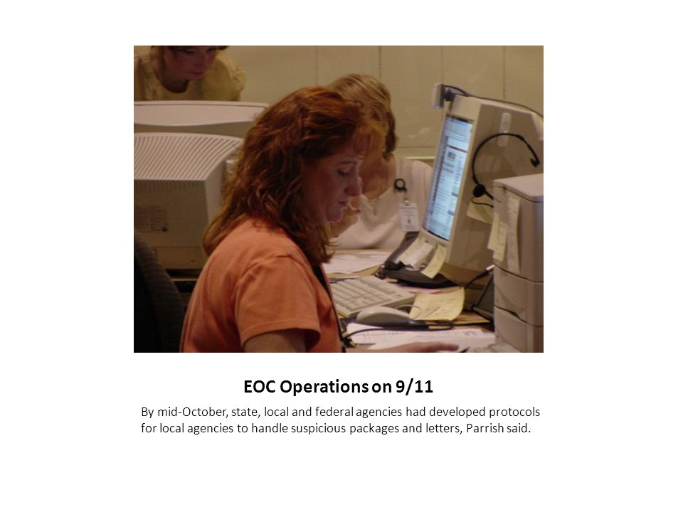 EOC Briefing: September 11, 2001 at 9:45 a.m.