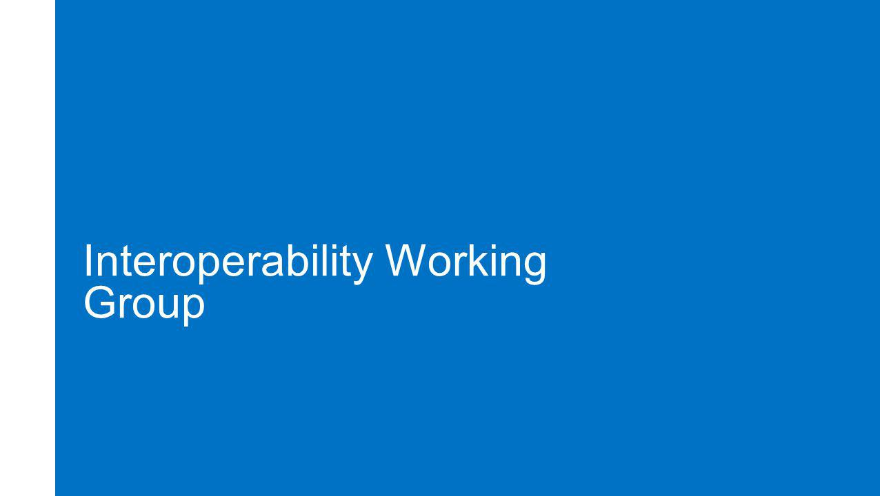 Interoperability Working Group