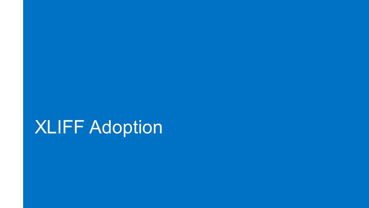 XLIFF Adoption