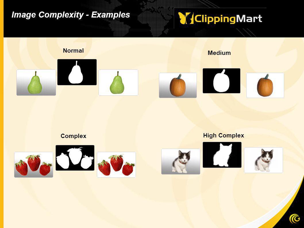 High Complex Complex Image Complexity - Examples Normal Medium