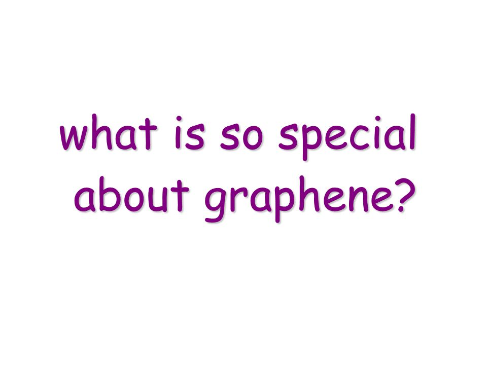 what is so special about graphene?