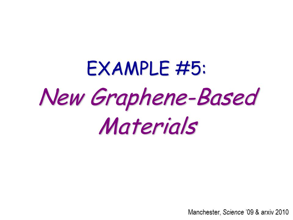 Manchester, Science 09 & arxiv 2010 EXAMPLE #5: New Graphene-Based Materials