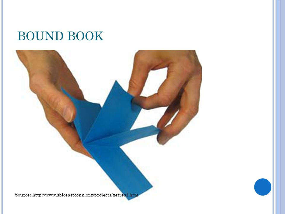 BOUND BOOK Source: http://www.sblceastconn.org/projects/getreal.htm