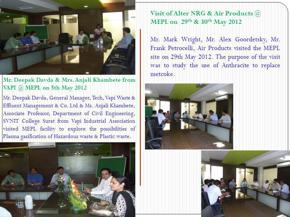 Visit of Solena Absi India Pvt.Ltd, Harayana to MEPL Facility Mr.