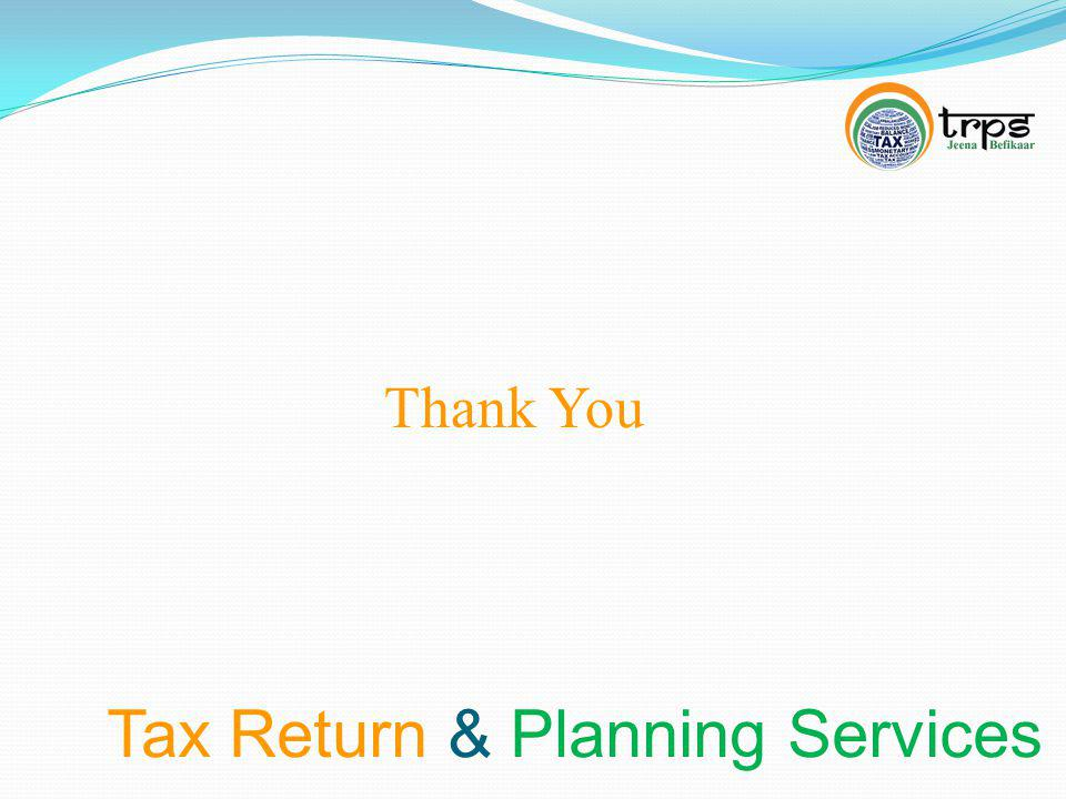 Tax Return & Planning Services Thank You