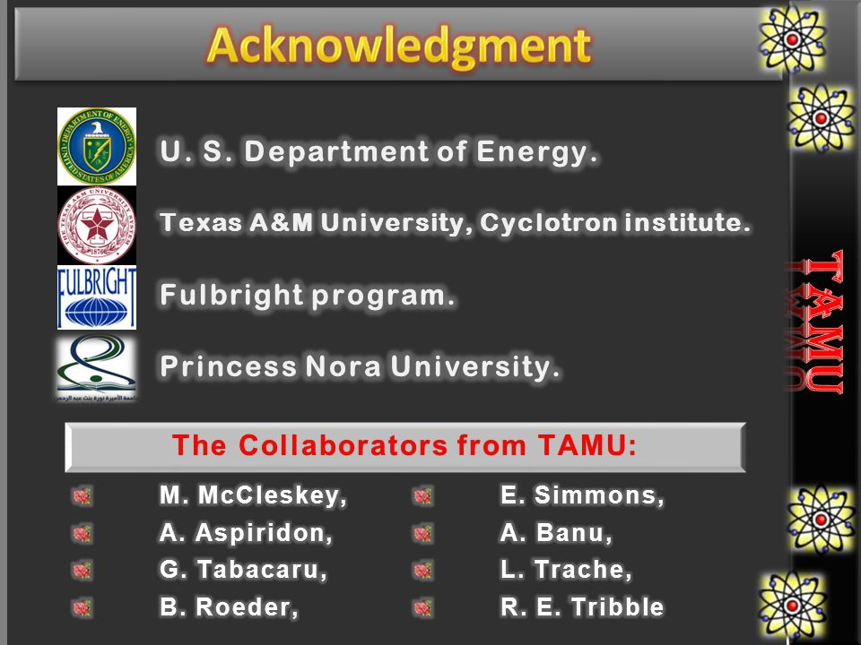 The Collaborators from TAMU:The Collaborators from TAMU: