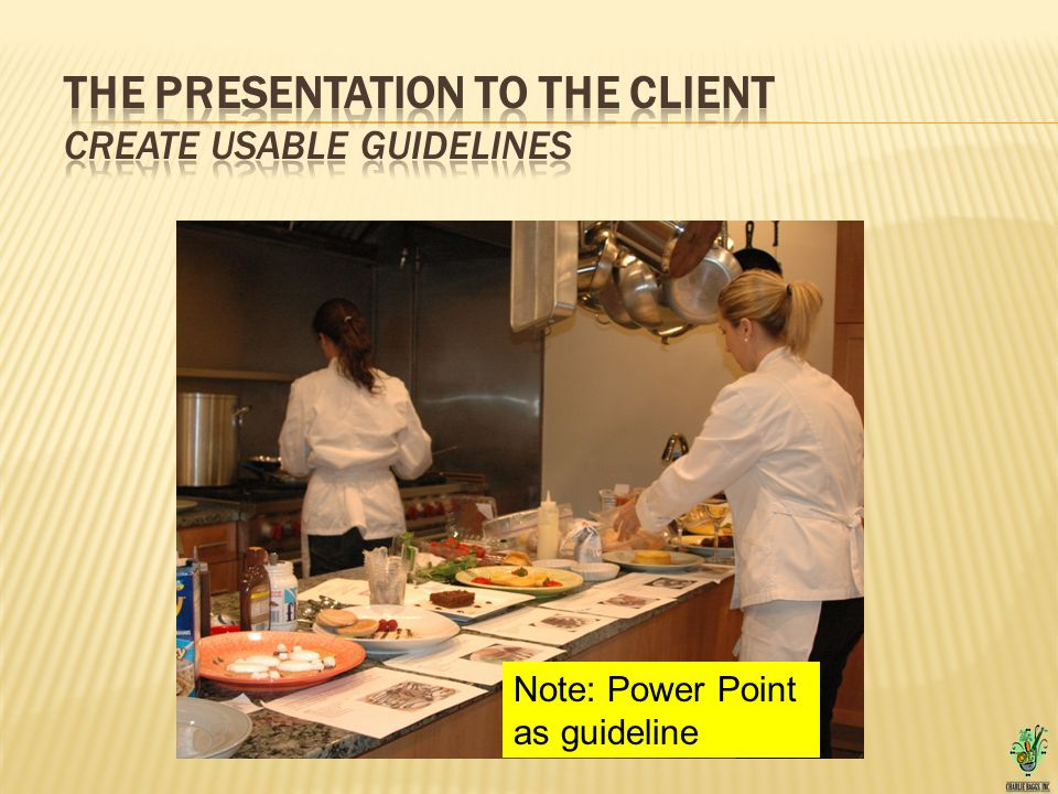 Note: Power Point as guideline