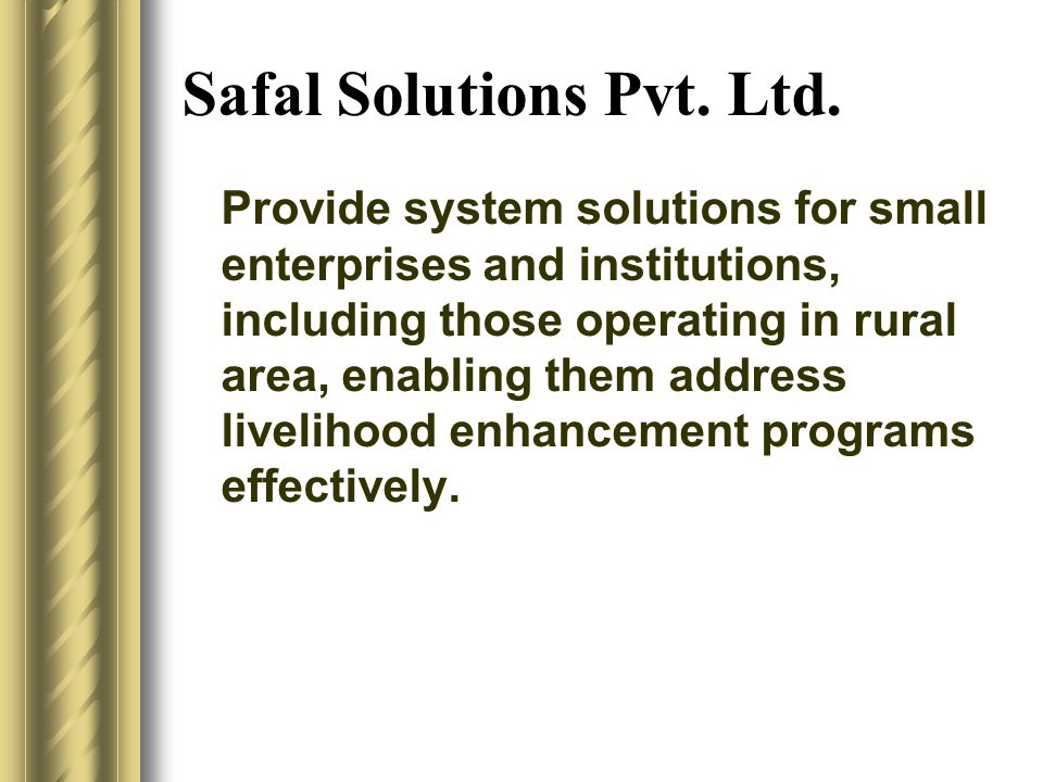 Safal Solutions Pvt. Ltd.