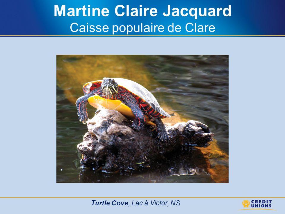 Martine Claire Jacquard Caisse populaire de Clare Turtle Cove, Lac à Victor, NS