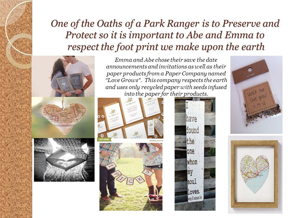 One of the Oaths of a Park Ranger is to Preserve and Protect so it is important to Abe and Emma to respect the foot print we make upon the earth Emma