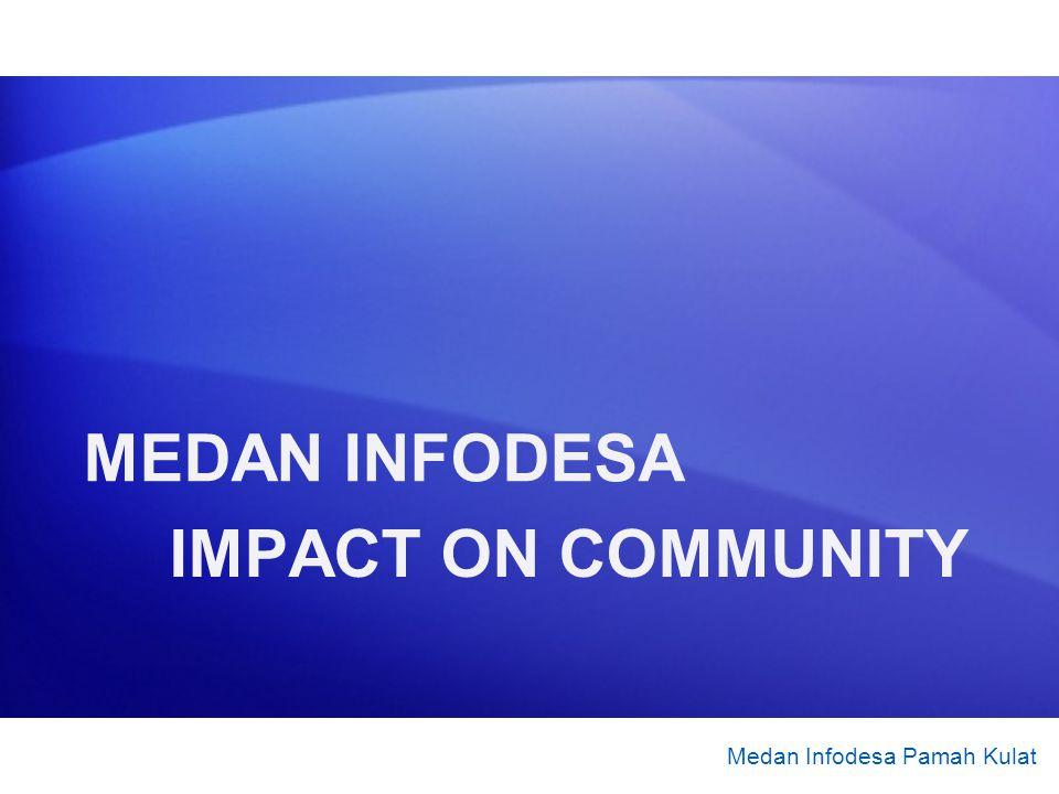 IMPACT ON COMMUNITY Medan Infodesa Pamah Kulat MEDAN INFODESA