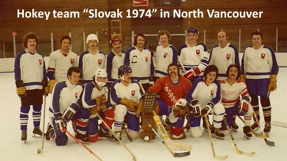 Hokey team Slovak 1974 in North Vancouver
