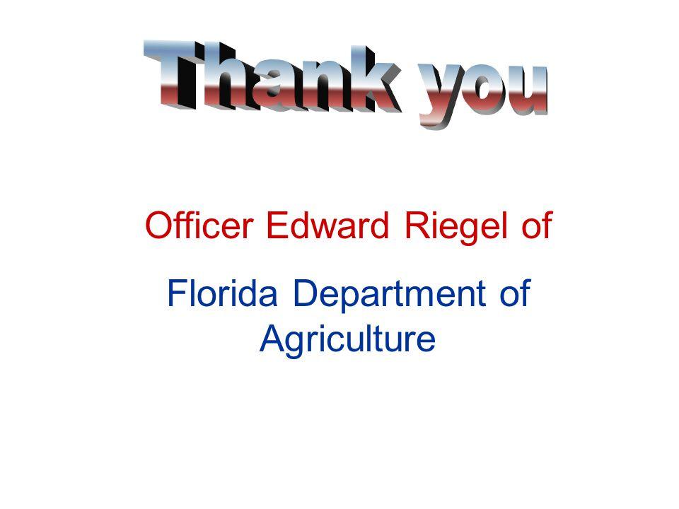 Officer Tim Sweat of Florida Fish & Wildlife Commission